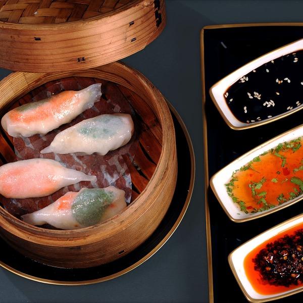 Celery & crab meat dumpling