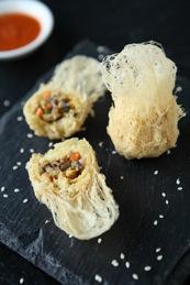 exotic veg & shitake nest