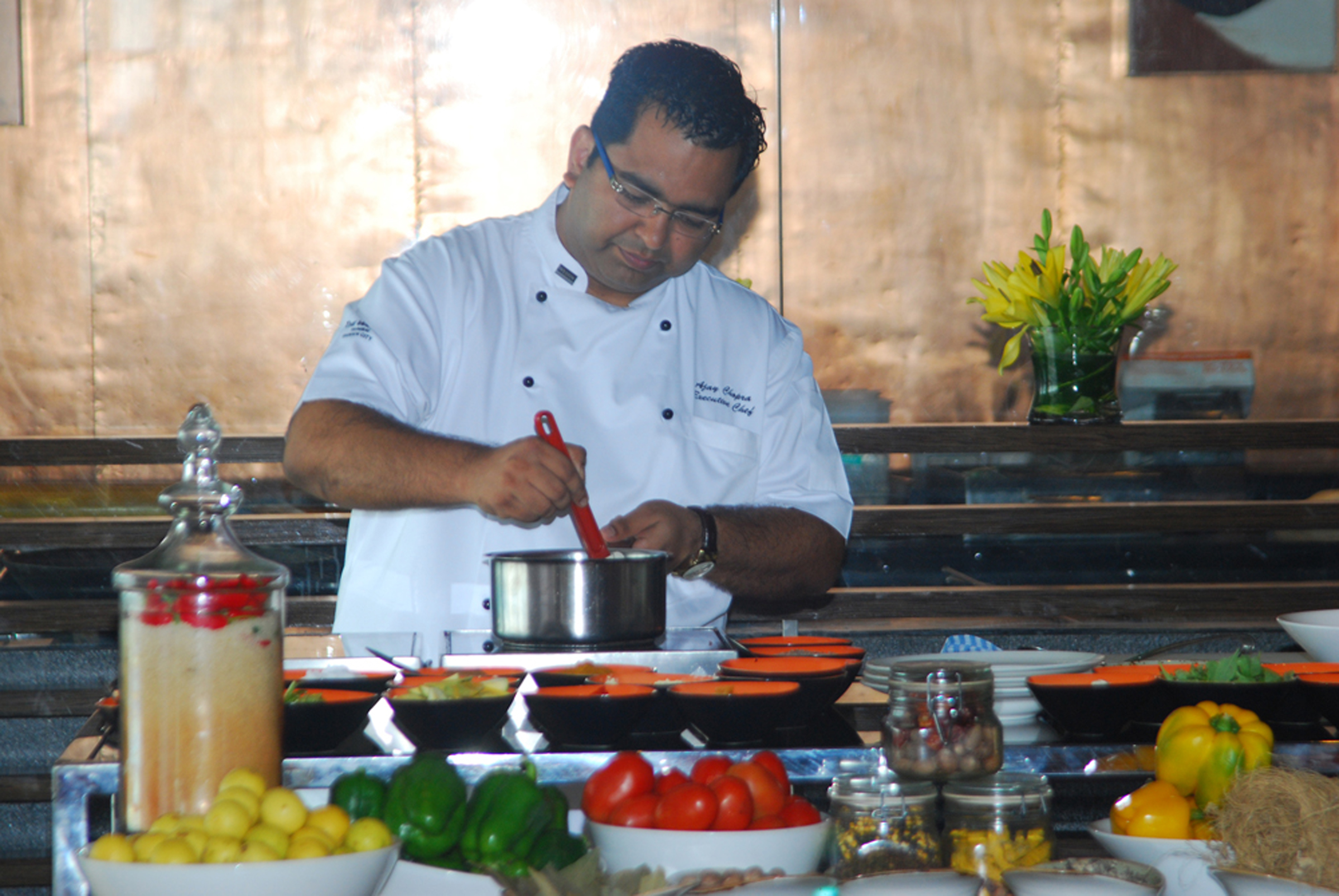July 2014 fashionably foody chef ajay chopra at the launch of veggistan on ndtv good times forumfinder Images