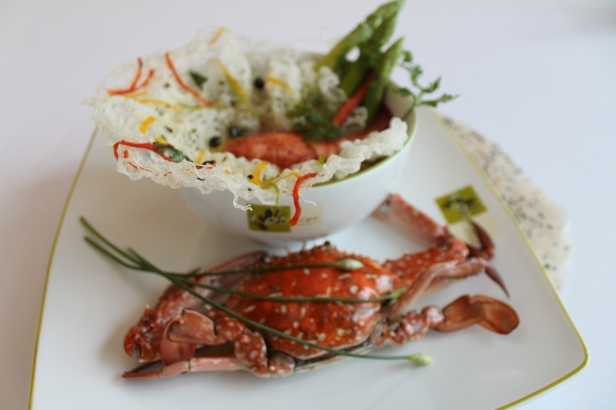 Crab and Vermicelli at Sofitel