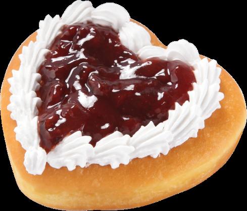 Hot Pink Love Donut