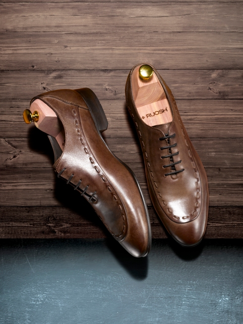 Roush Brown Oxfords With Leather Stitch Detailing  Rs. 7490