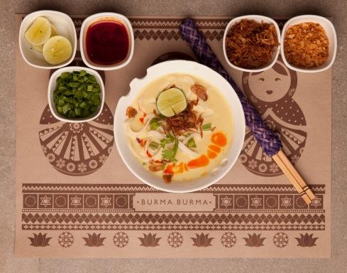 Khow suey at Burma Burma