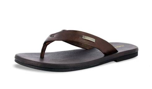 Dark Brown Flip Flops from Alberto Toressi