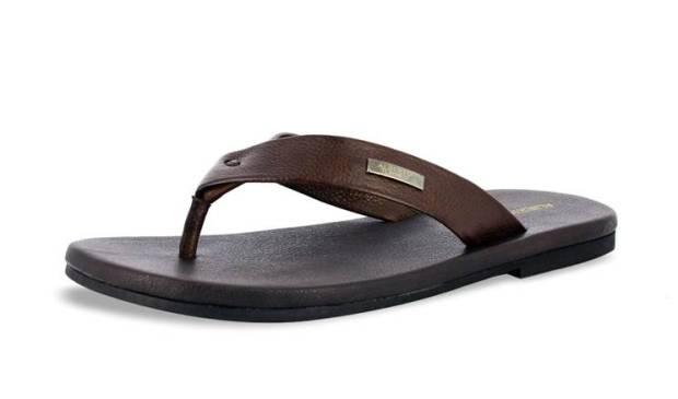 Dark Brown Flip Flops from Alberto Toressi