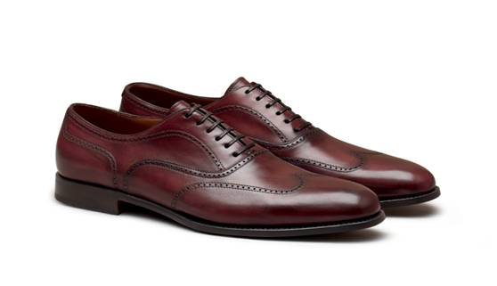 Oxford with punched holes from Corneliani
