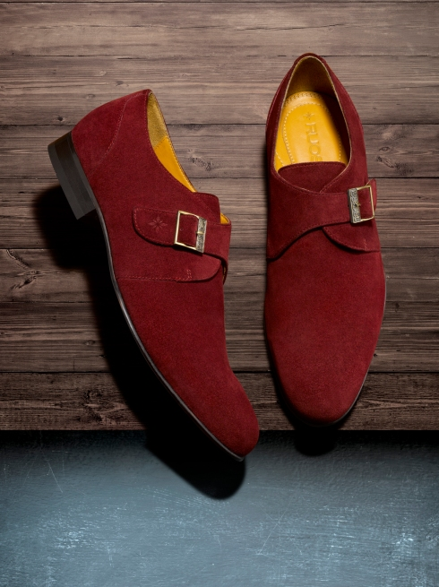 Maroon Suede Monks from Ruosh Rs. 6490