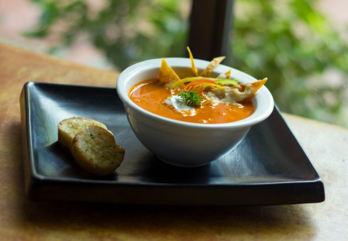 Roasted tomato tortilla soup at Vedge