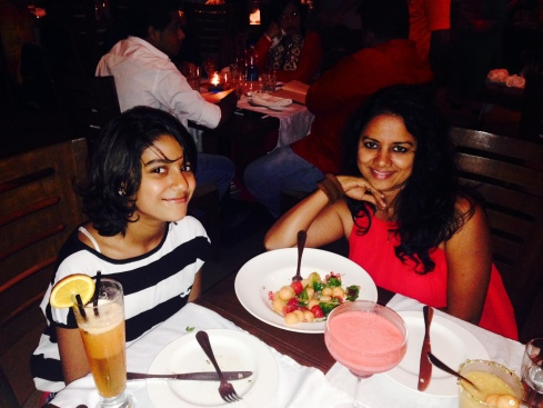The gluttonous pair - Maithili and Me
