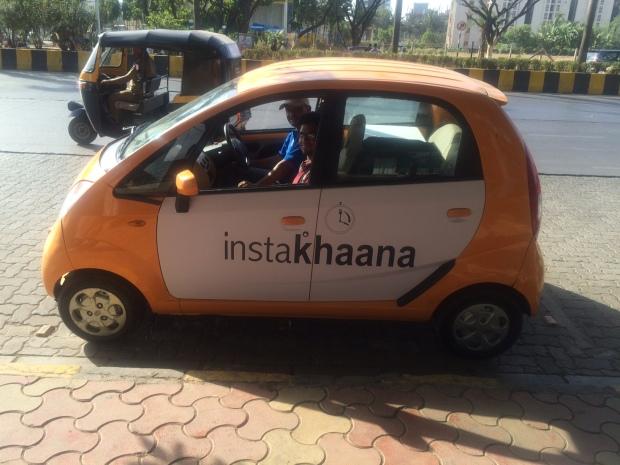 Instakhaana, delivery van, food, mumbai, restaurant