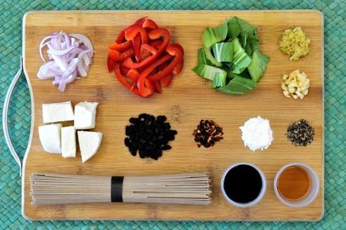 food, noodles, soba, home