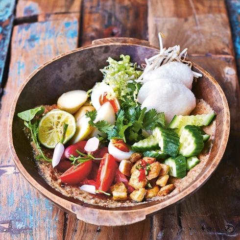 salad, Gado Gado, food, Singapore, Asian