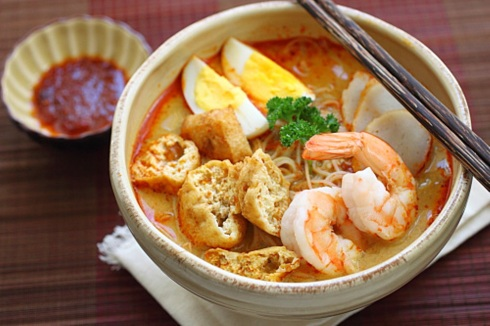 Laksa, singapore, food, Asian food, soup, prawns