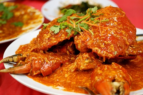 Singapore, chilli crab, crab, food, spicy, street food, asian food