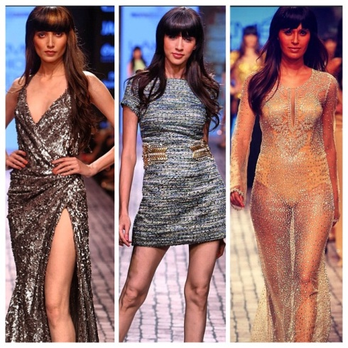 Monisha Jaisingh, designer, dress, gown, glitter, Lakme Fashion week, fashion, beachwear, swimwear