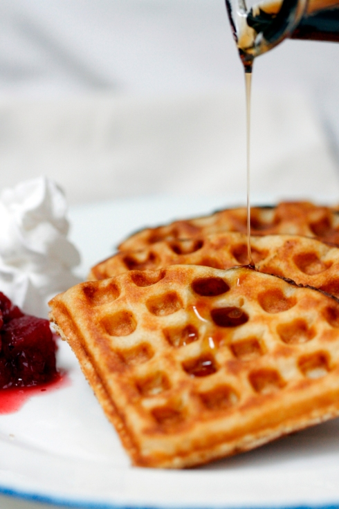 crispy fluffy waffles