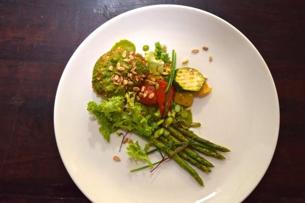 resized Olive Bar & Kitchen - Confit Asparagus with crispy Egg & Kaffir