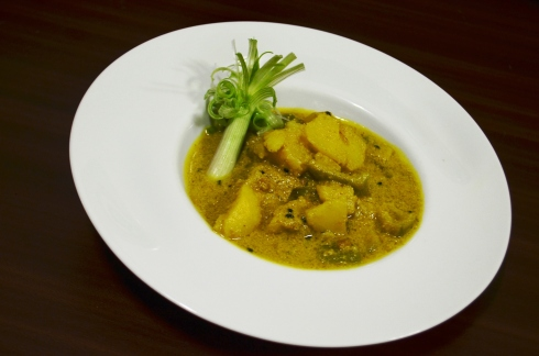 Jhinge Aloo Poshto at the Sofitel Mumbai BKC