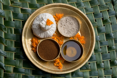 Ayurvedic ingredients platter at Shreeyas