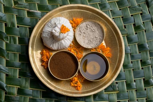 Ayurvedic ingredients platter at Shreeyas