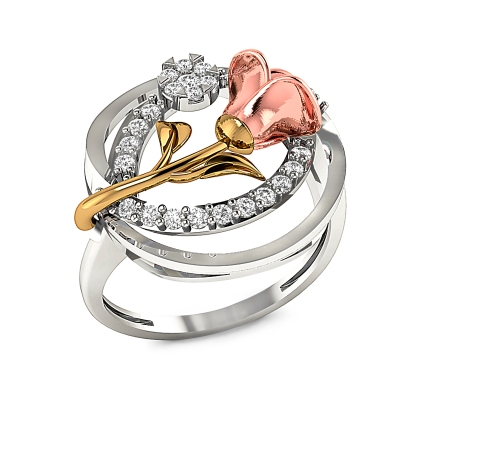 Rose ring in 18 K gold by Aisshpra Gems & Jewels.JPG