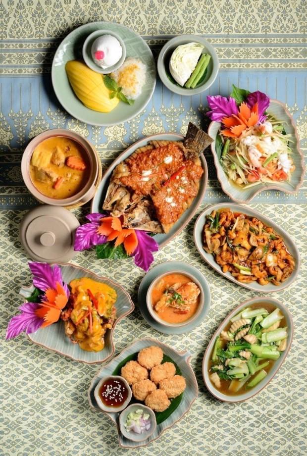 Thai food group shot